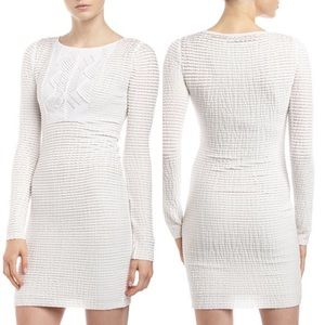BCBGMAZAZARIA Shawna LongSleeve Stretch Lace Dress